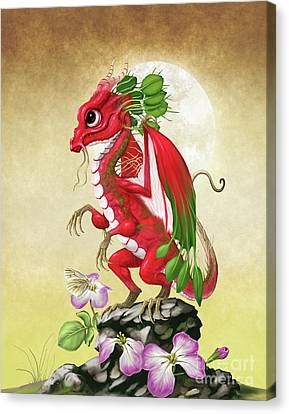 Canvas Print featuring the digital art Radish Dragon by Stanley Morrison