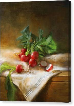 Cook Canvas Print - Radishes by Robert Papp