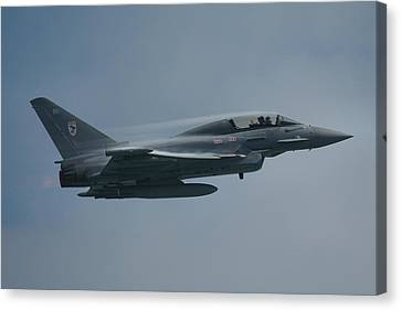 Canvas Print featuring the photograph Raf Eurofighter Typhoon T1  by Tim Beach