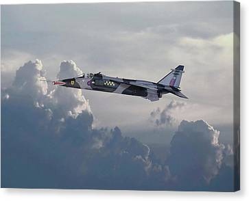 Canvas Print featuring the photograph Raf Jaguar Gr1 by Pat Speirs