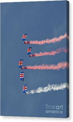Raf Parachute Display Team Canvas Print by Nichola Denny