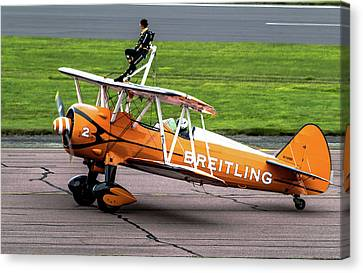 Canvas Print featuring the photograph Raf Scampton 2017 - Breitling Wingwalkers At Rest by Scott Lyons