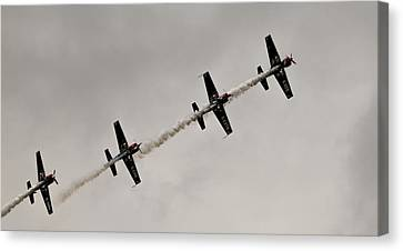 Canvas Print featuring the photograph Raf Scampton 2017 - Global Stars In A Line by Scott Lyons
