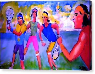 Rafa Tennis At The French Wimbleton And U.s. Open Canvas Print by Stanley Morganstein