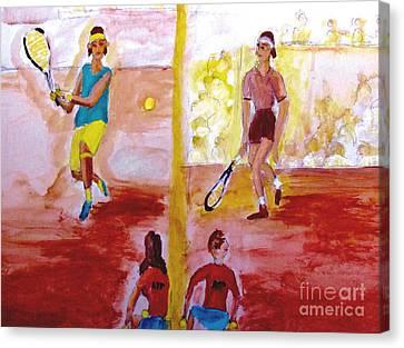 Rafa Versus Federer Canvas Print by Stanley Morganstein