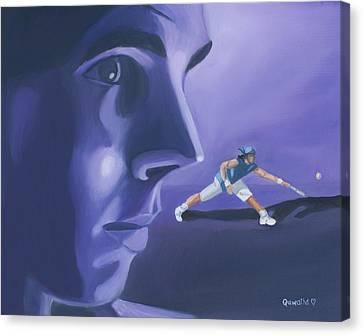Rafael Nadal Canvas Print by Quwatha Valentine