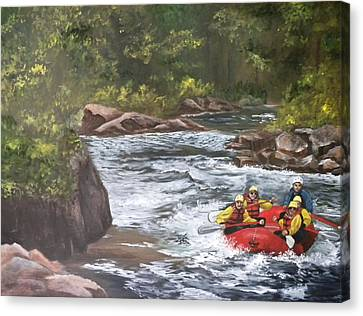 Rafting In Colorado Canvas Print by Marti Idlet