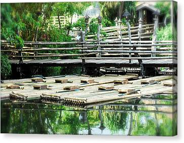Rafts At Rest Canvas Print