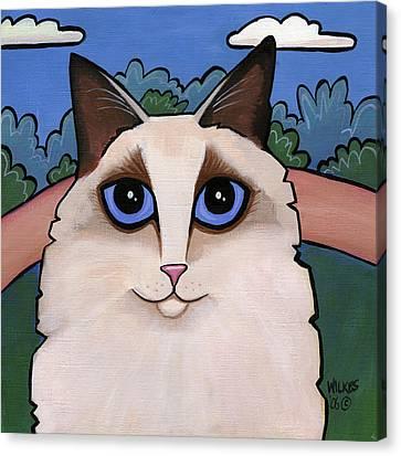 Ragdoll Cat Canvas Print by Leanne Wilkes