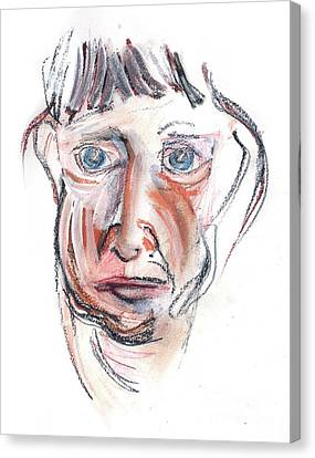 Canvas Print featuring the drawing Raggedy Selfie by Carolyn Weltman