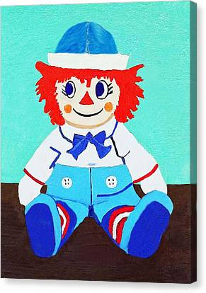 Canvas Print featuring the painting Raggy Andy II by Margaret Harmon