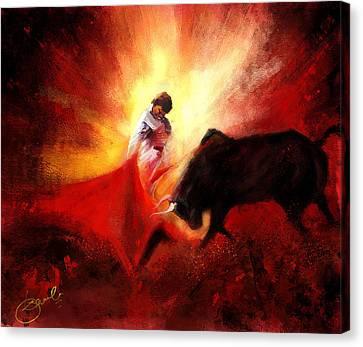 Raging Bull Canvas Print by Kiran Kumar
