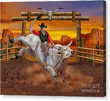 Ride 'em Cowboy Canvas Print by Glenn Holbrook