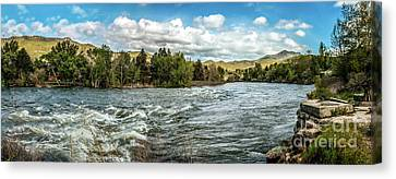 Raging Payette River Canvas Print by Robert Bales