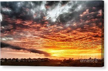 Raging Sunset Canvas Print