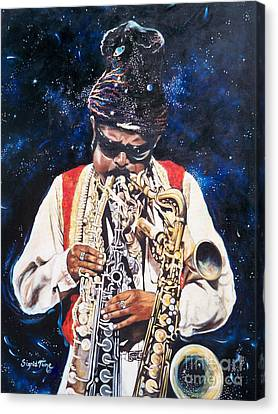Rahsaan Roland Kirk- Jazz Canvas Print by Sigrid Tune