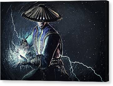 Raiden - Mortal Kombat Canvas Print by Taylan Apukovska