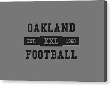 Raiders Retro Shirt Canvas Print by Joe Hamilton