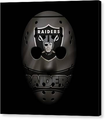Raiders War Mask 2 Canvas Print by Joe Hamilton