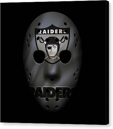 Raiders War Mask Canvas Print by Joe Hamilton