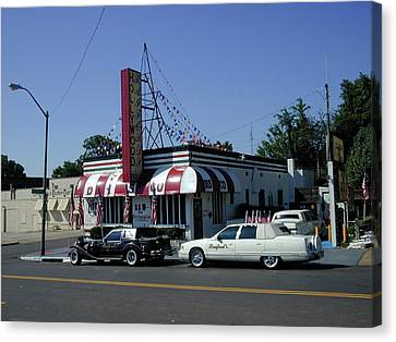 Canvas Print featuring the photograph Raifords Disco Memphis A by Mark Czerniec