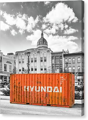 Canvas Print - Container In Altoona by Eclectic Art Photos