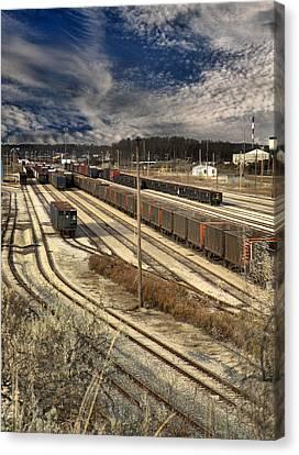 Rail Yard 1 Canvas Print by Scott Hovind