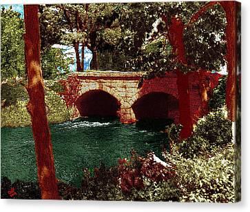 Railroad Bridge Canvas Print by Cliff Wilson