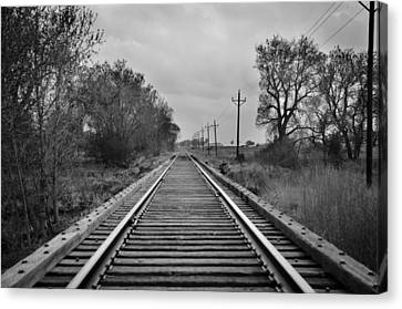 Railroad Tracks Canvas Print by Matthew Angelo