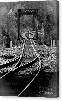 Canvas Print featuring the photograph Rails by Douglas Stucky