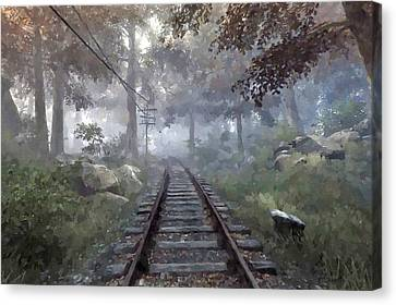 Rails To A Forgotten Place Canvas Print by Kai Saarto