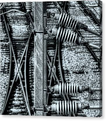Canvas Print featuring the photograph Railway Detail by Wayne Sherriff