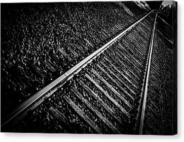 Railway Track Canvas Print by Tommytechno Sweden