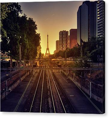 Railway Tracks Canvas Print