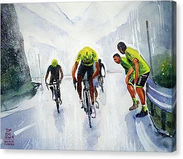 Rain And Hail At The Top Canvas Print