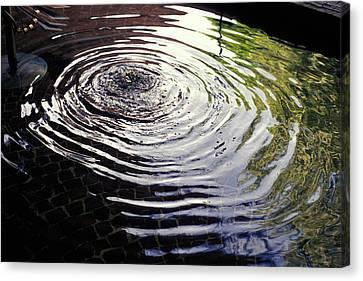 Rain Barrel Canvas Print by Carl Purcell