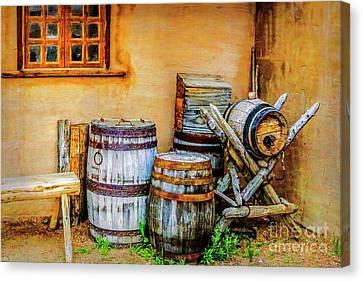 Rain Barrel Canvas Print - Rain Barrels by Jon Burch Photography