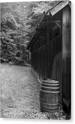 Rain Chain Bw Canvas Print by Gary Conner