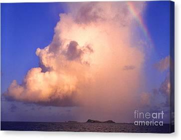 Rain Cloud And Rainbow Canvas Print by Thomas R Fletcher