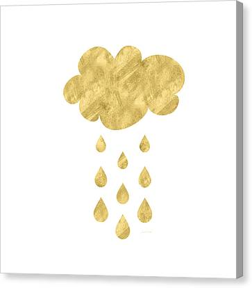 Drop Canvas Print - Rain Cloud- Art By Linda Woods by Linda Woods
