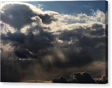 Canvas Print featuring the photograph Rain by Erica Hanel