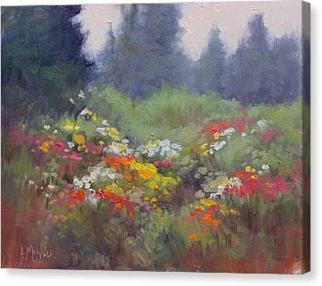 Rain Flowers Canvas Print