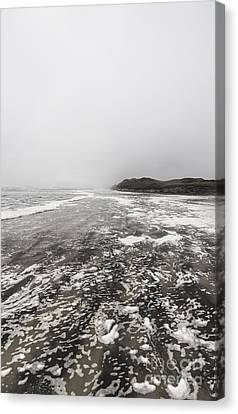 Rain Fog And Wind Seascape Canvas Print by Jorgo Photography - Wall Art Gallery