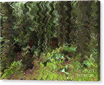 Rain Forest Abstract Canvas Print by Sharon Talson