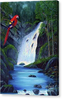 Rain Forest Macaws Canvas Print