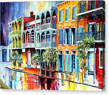 Rain In Old New Orleans Canvas Print by Diane Millsap