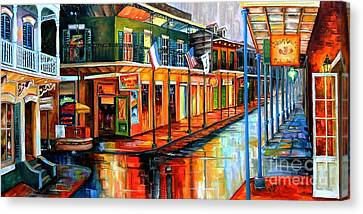 Rain In The Big Easy Canvas Print by Diane Millsap