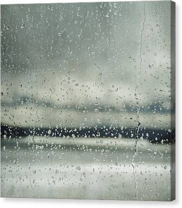 Canvas Print featuring the photograph Rain Layers by Sally Banfill