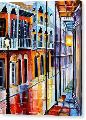 Royal Canvas Print - Rain On Royal Street by Diane Millsap