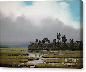 Rain On The Way Canvas Print by Glenn Secrest